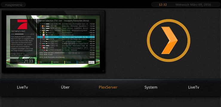 Screenshot der DreamBox Oberfläche auf einer VU+ Solo².