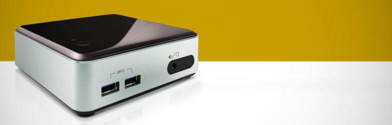 Grafik die ein Intel NUC-Kit zeigt für den Artikel Hochgeladen zu Empfehlenswerte Plex Hardware für unter 400 Euro: Intel NUC-Kit
